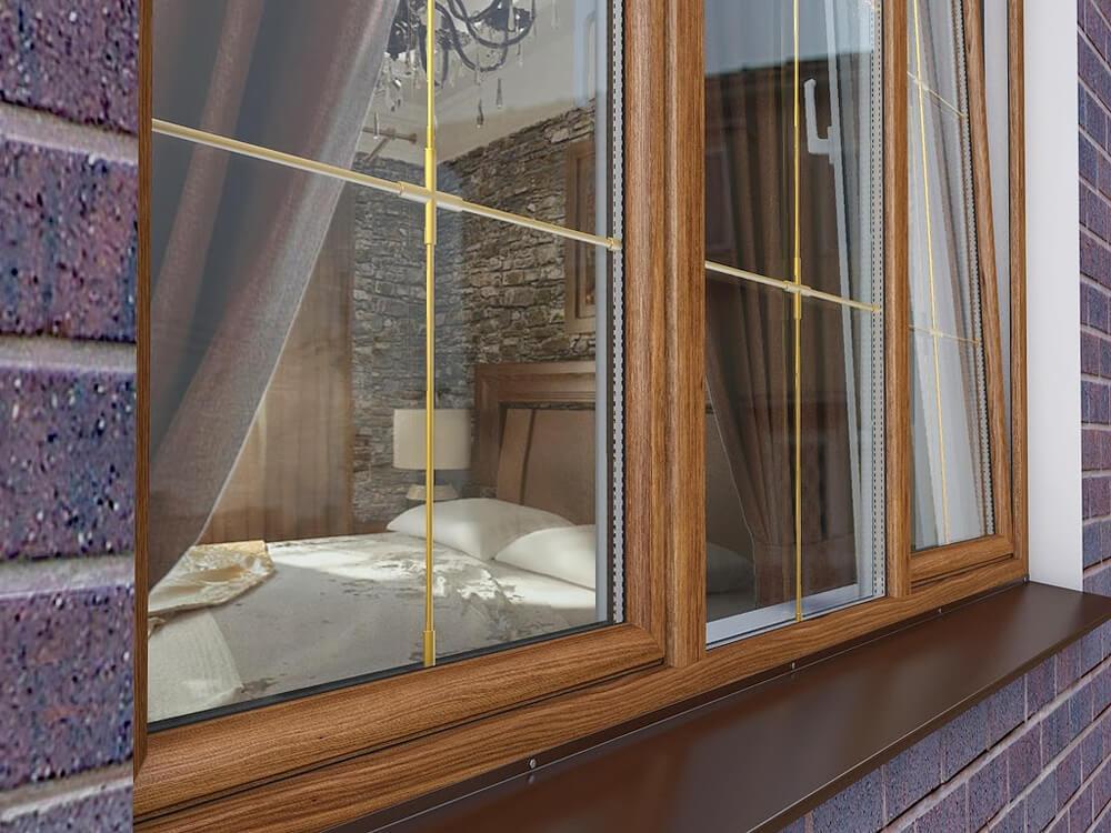 Декорированные окна со шпросами