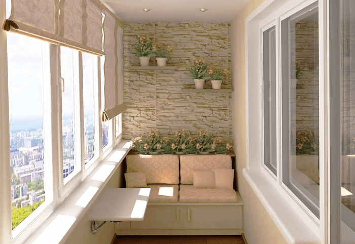 балкон внутренняя отделка фото